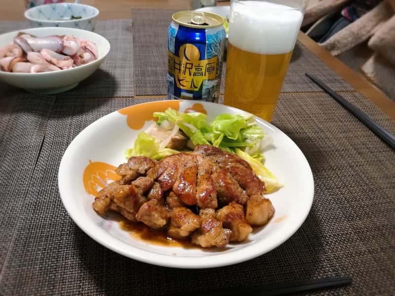 軽井沢高原ビールホワイトIPAとトンテキのフードペアリングを試してみた