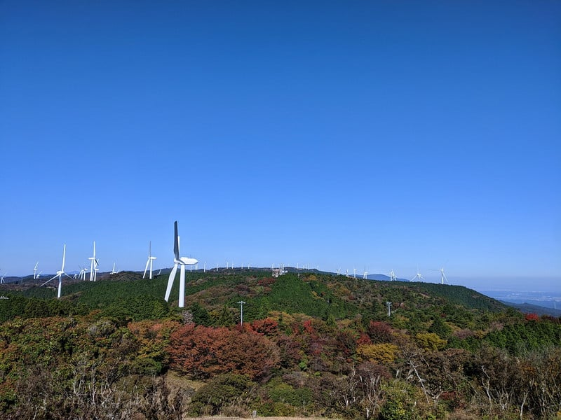 青山高原 風車 クロスカブツーリング