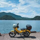 快適ルートで福井県へ抜けて海を望んだクロスカブツーリングログ